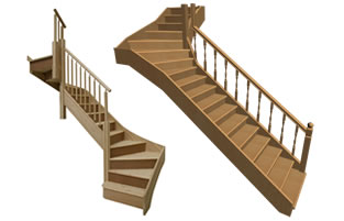 We make timber stair cases for homeowners and developers across London
